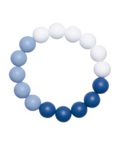 Силиконовый браслет-прорезыватель Esta сине-голубой