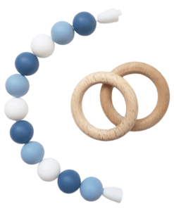 Силиконовый браслет-прорезыватель-с-деревянными-колечками-голубой-2