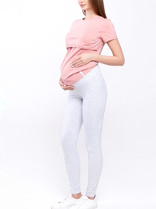 Серые лосины для беременных Kaily