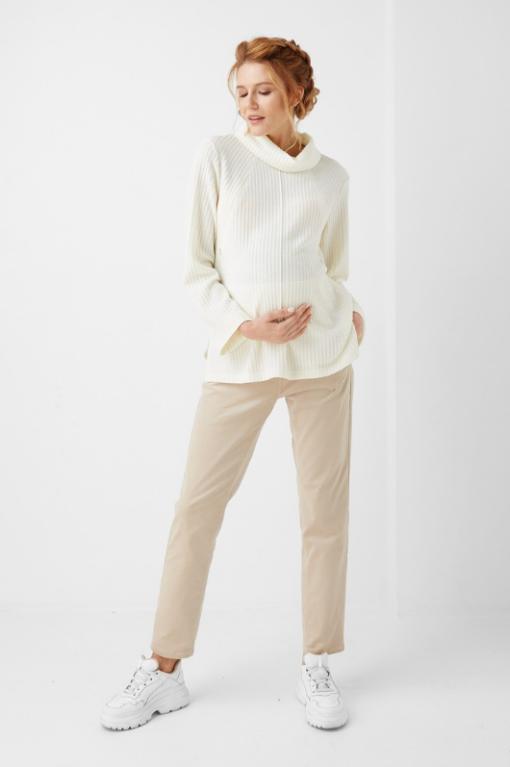 Бежевые вельветовые брюки для беременных Mikele