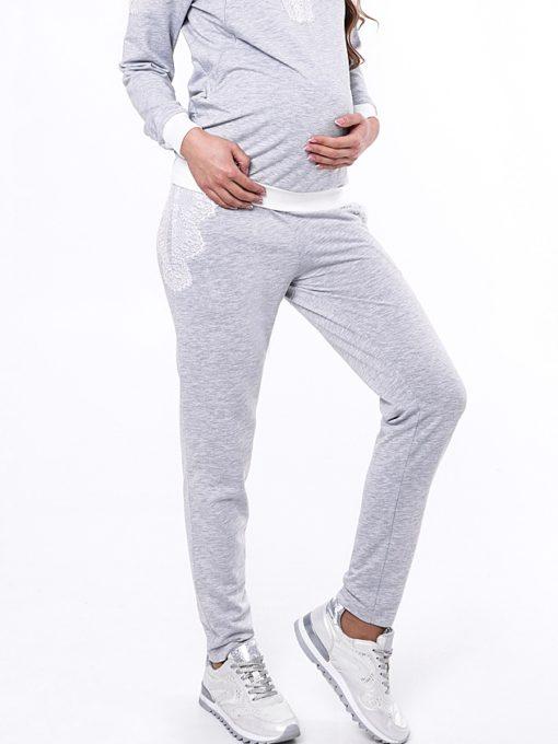 Серые брюки для будущих и кормящих мам Amira