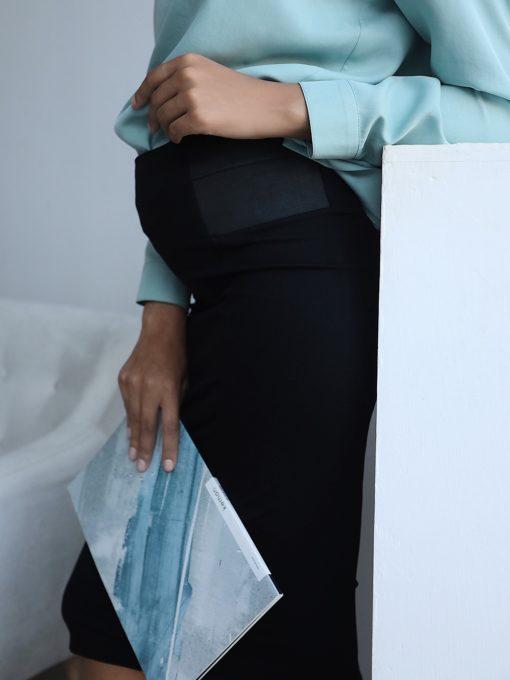Черная юбка для беременных Lesli