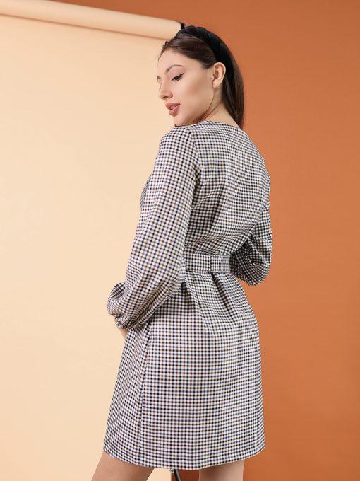 Платье в клетку для беременных и кормящих мам Candis