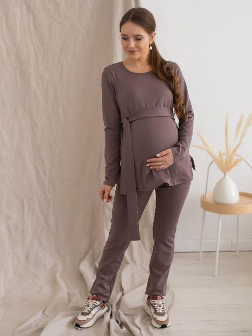 Кофейный костюм для беременных и кормящих мам Estel