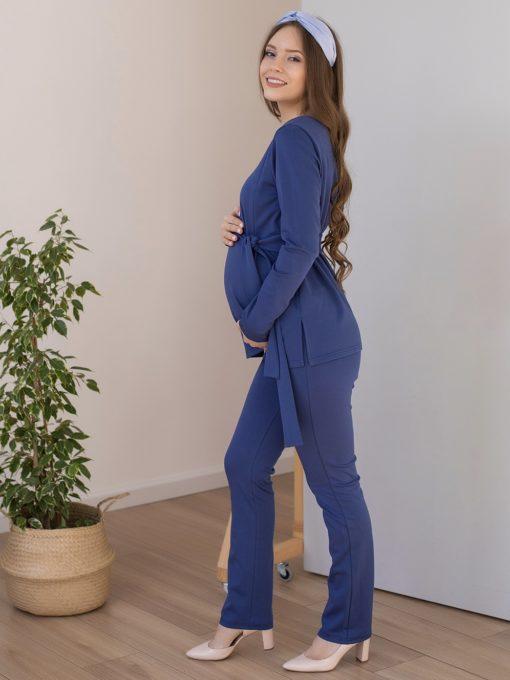 Васильковый костюм для беременных и кормящих мам Estel