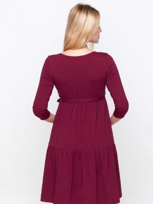 Бордовое платье для беременных и кормящих Tara