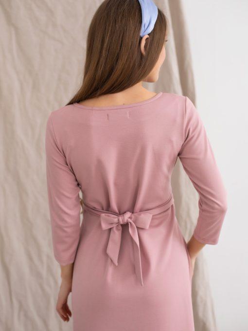 Пудровое платье для будущих и кормящих мам Belle