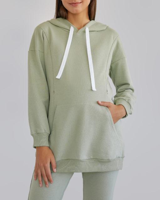 Фисташковый костюм для беременных и кормящих мам Kendal