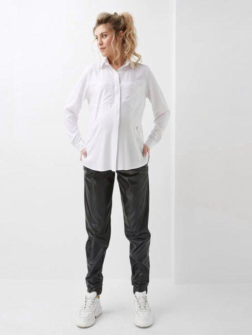 Белая рубашка для беременных и кормящих мам Rita