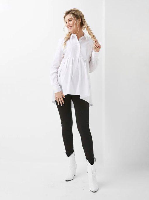 Белая рубашка для беременных и кормящих мам Limbo