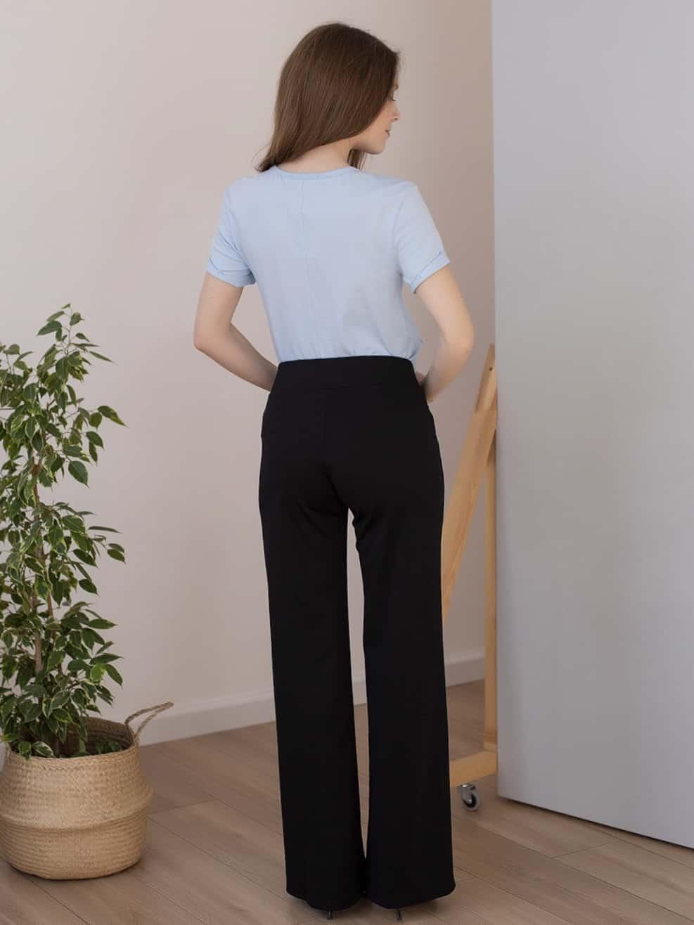 Черные брюки для будущих и кормящих мам Mon Ami