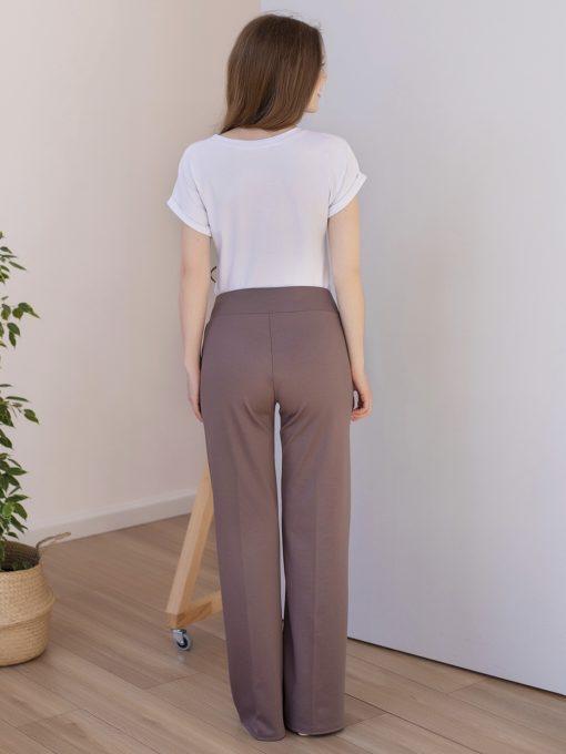 Кофейные брюки для будущих и кормящих мам Mon Ami