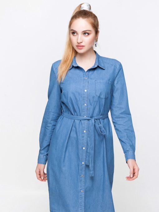 Джинсовое платье для будущих и кормящих мам Vero