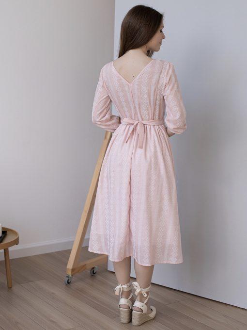 Персиковое платье для беременных и кормящих мам Amabel
