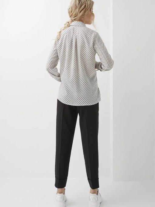Белая блуза для беременных и кормящих мам Liliana