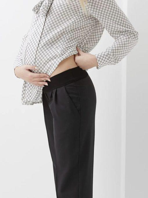 Черные брюки для будущих и кормящих мам Kerrison