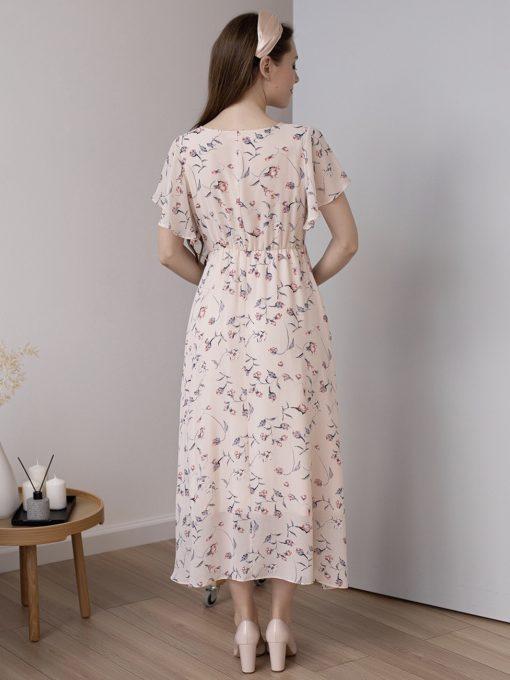 Пудровое платье для будущих и кормящих мам Monaco