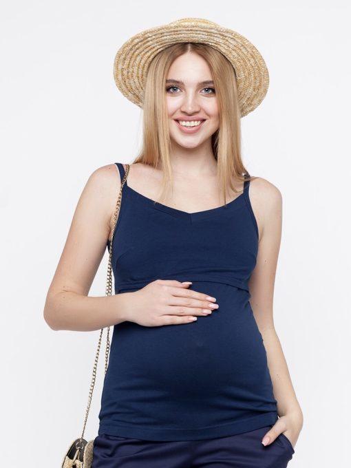 Синяя майка для будущих и кормящих мам May