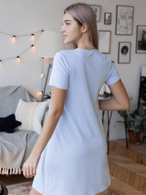 Голубая сорочка для будущих и кормящих мам Alisa