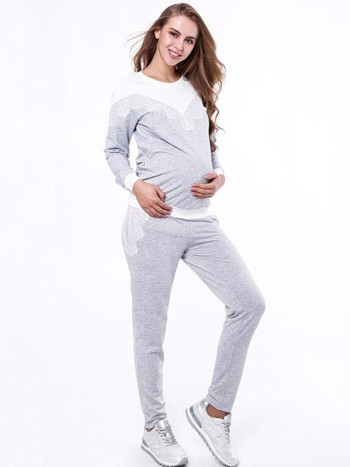 Cерый костюм для будущих и кормящих мам Amira