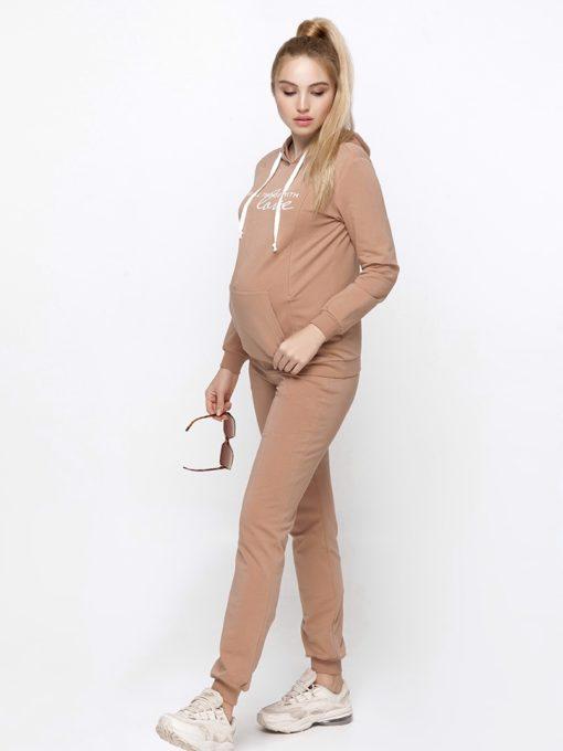 Бежевый костюм для беременных и кормящих мам Rumi