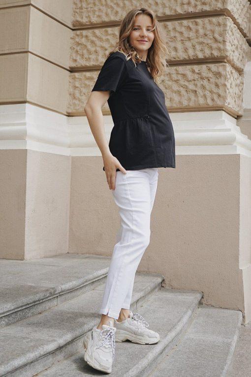 Белые джинсы для будущих и кормящих мам Trisha