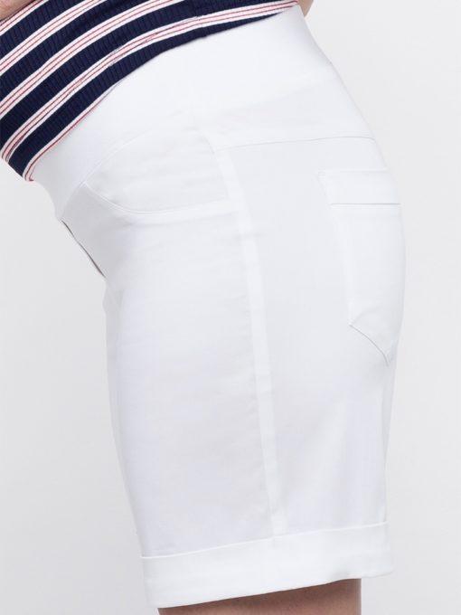 Белые шорты для беременных и кормящих мам Mendie