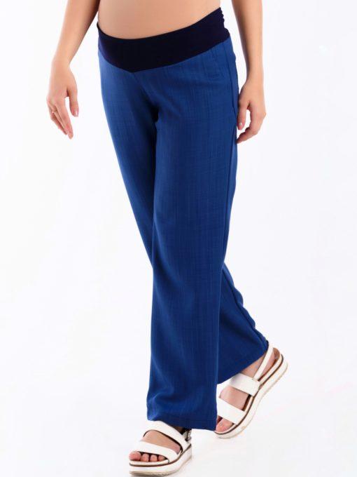 Синие брюки-палаццо для будущих и кормящих мам Korsika