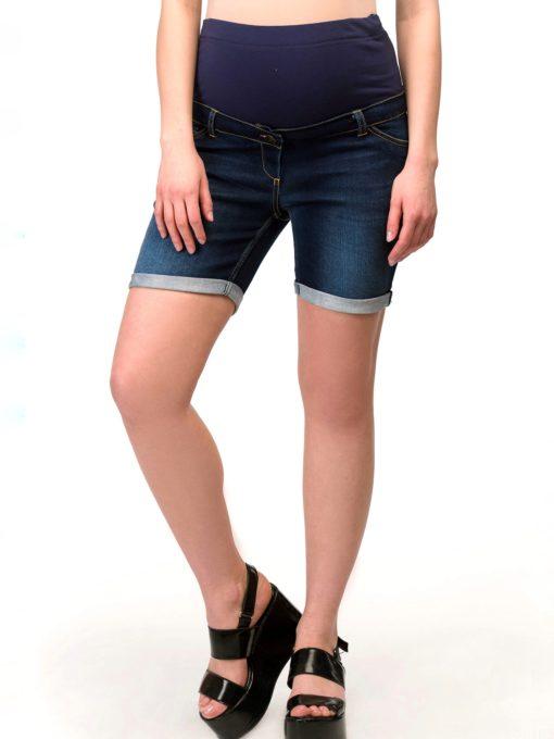 Джинсовые шорты для беременных и кормящих мам Domenik
