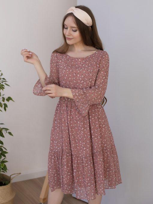 Koфейное платье для будущих и кормящих мам Vanilla