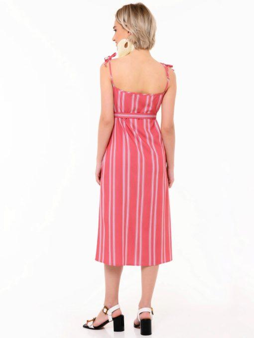 Розовый сарафан для будущих и кормящих мам Santorini
