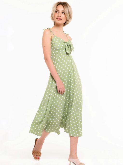 Оливковый сарафан для будущих и кормящих мам Similan