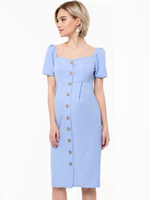 Голубое платье для будущих и кормящих мам Aruba
