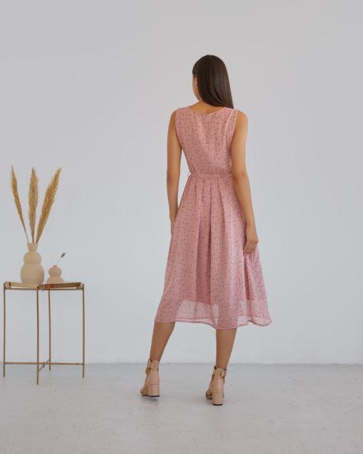 Пудровое платье для будущих и кормящих мам Merci Summer