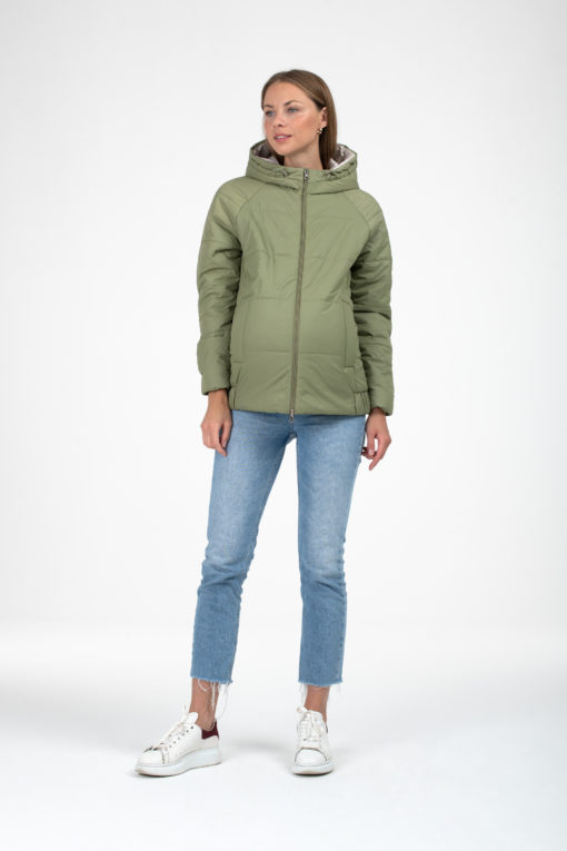 Оливковая куртка для беременных и кормящих Yasya