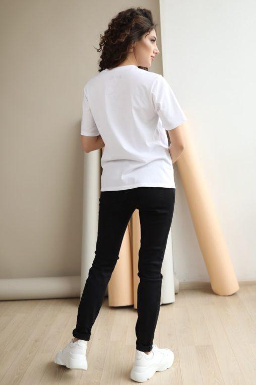 Чёрные джинсы-скини для будущих и кормящих мам Henry