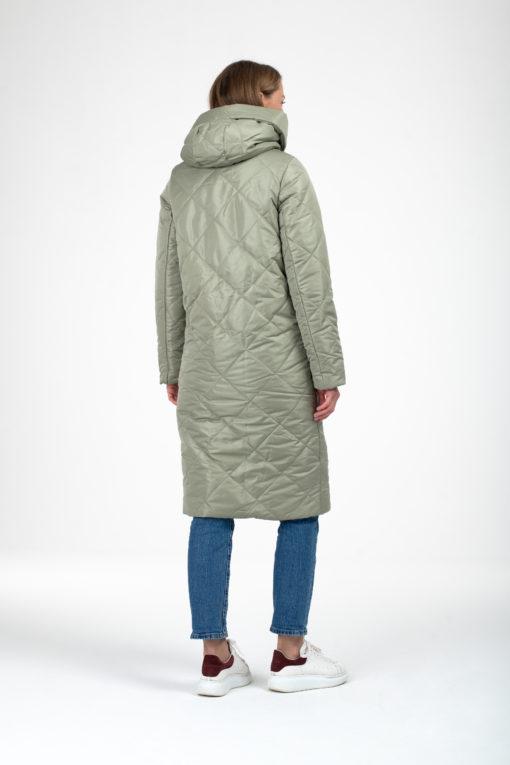 Фисташковое зимнее пальто для беременных и кормящих Sofia