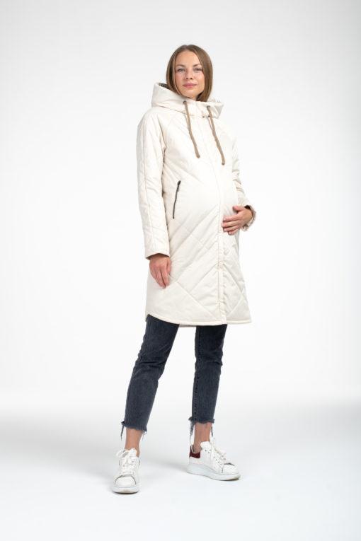 Молочное пальто для беременных и кормящих Ursula