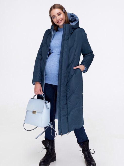 Синяя куртка-трансформер для беременных Tokyo