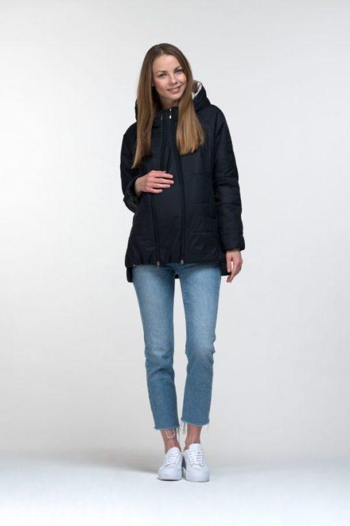 Синяя куртка для беременных и кормящих Yasya