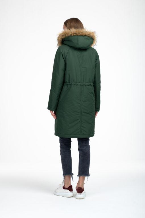 Зимнее пальто в цвете хаки для беременных и кормящих Lana