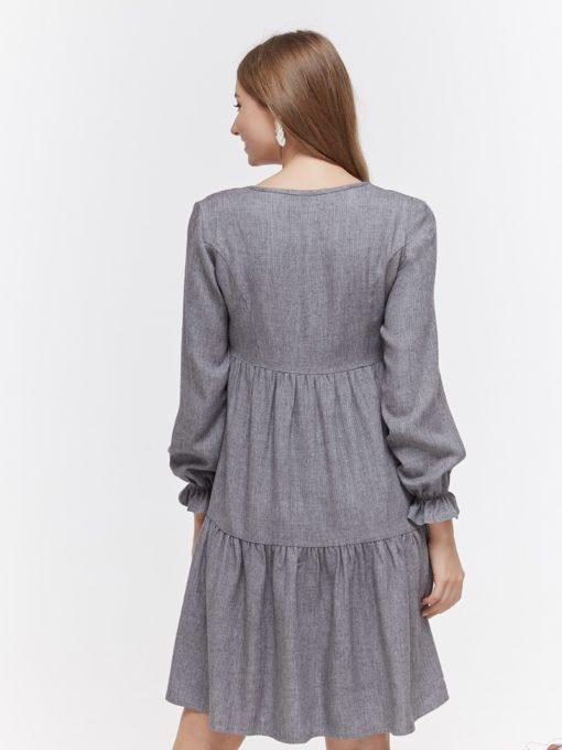 Серое платье для будущих и кормящих мам Jeslyn