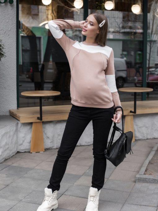 Чёрные джинсы-скини для будущих и кормящих мам Taliana