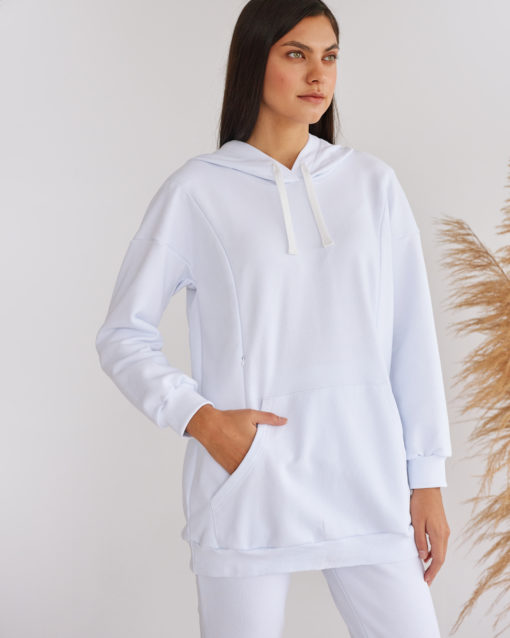 Белый костюм для беременных и кормящих мам Kendal
