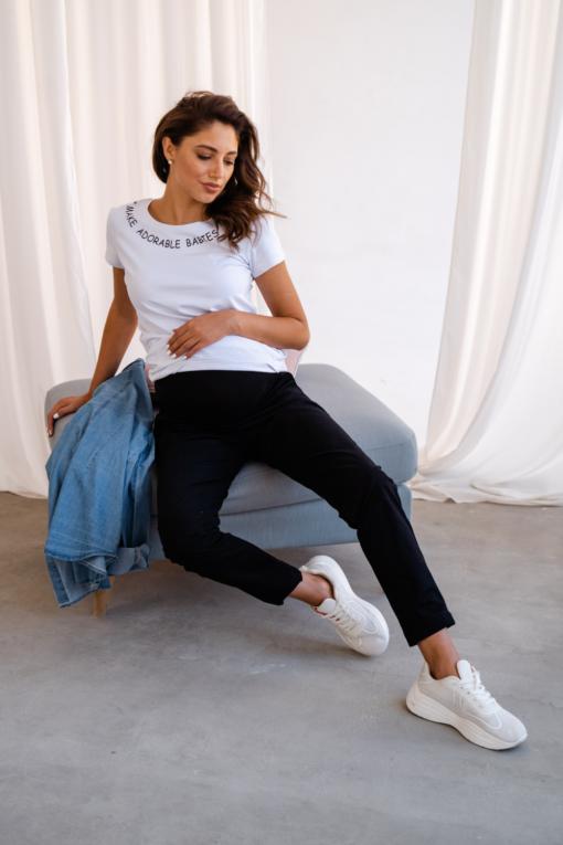 Черные брюки для будущих и кормящих мам Tamina