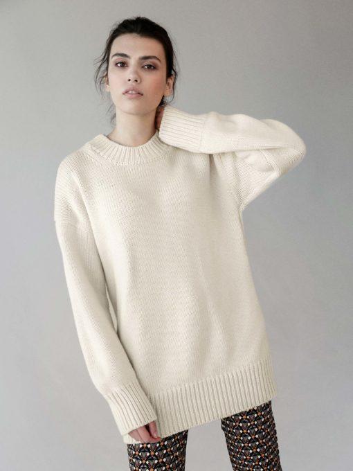 Молочный свитер для будущих мам Batler