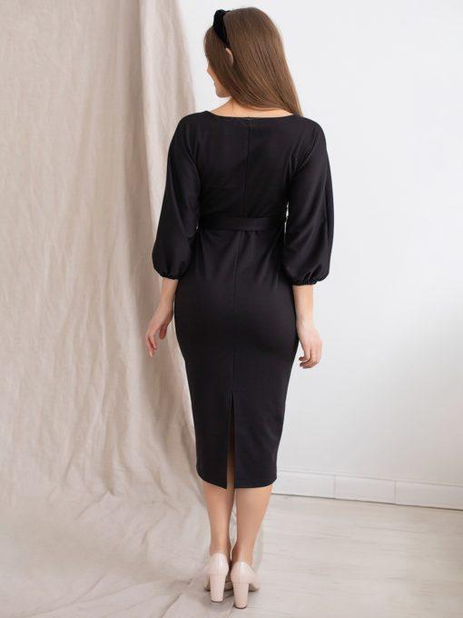 Черное платье для будущих и кормящих мам Megan