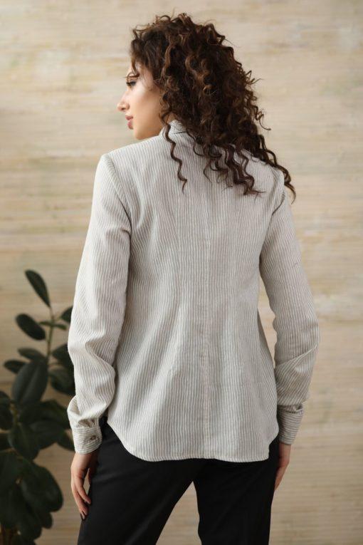 Бежевая рубашка для беременных и кормящих мам Milk