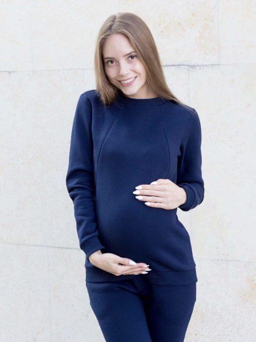 Синий теплый костюм для будущих и кормящих мам Sport