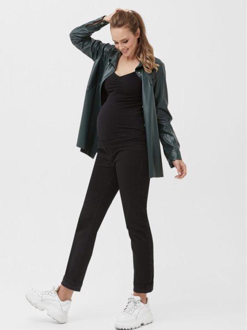 Черные джинсы moms для беременных и кормящих Magali